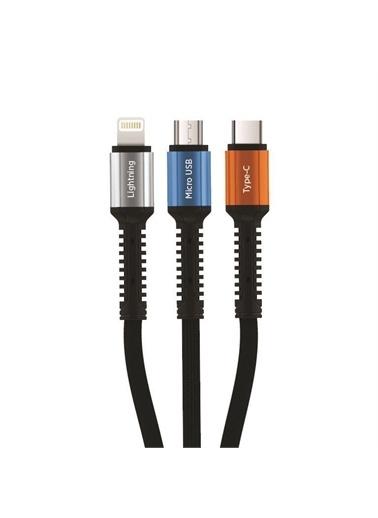 Polo Smart Polo Smart Psm13 3 Çıkışlı 1 m Hızlı Şarj Kablosu Renkli